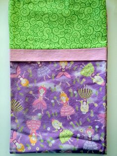 Whimsical Fairies Pillowcase by SissysCreationsSL on Etsy, $15.00