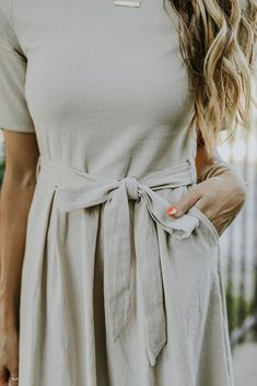 Taupe color dress wi