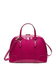 Gucci Nice Microguccissima Patent Leather Top Handle Bag by Gucci at Neiman Marcus.