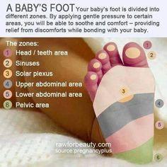 Baby's Foot Reflexology Chart  | Join us @ www.aspoonfulofhoney.com