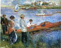 Oarsmen at Chatou - Pierre-Auguste Renoir