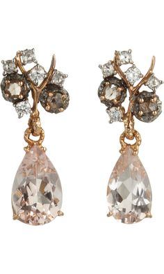 Federica Rettore Pink Morganite & Diamond Drop Earrings
