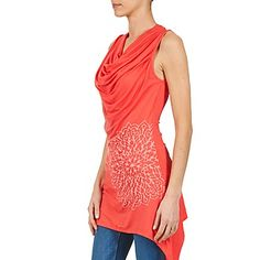 Topit & Paidat Desigual ESPALINE CORAIL 350x350 One Shoulder, Blouse, Tops, Women, Fashion, Coral, Moda, Fashion Styles, Blouses