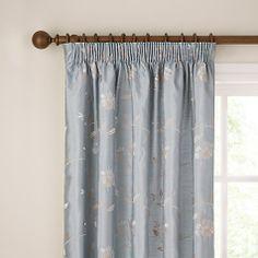 Buy John Lewis Pemberley Rose Pencil Pleat Curtains, Duck Egg, Pair Online at johnlewis.com