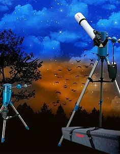 Delight the star gazer on your Christmas list this year with the Electronic Telescope with Tripod that enables crystal clear viewing of  stars and more.