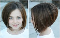 little girl a line bob - Google Search