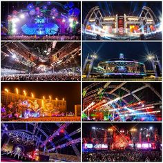 EDC Las Vegas 2013 stages - Truss and lighting set ups of NOTE