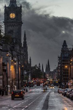 Edinburgh in the rain, Scotland Photo from Amazing Things in the World fb page Places Around The World, Oh The Places You'll Go, Places To Travel, Travel Destinations, Places To Visit, Time Travel, Travel Tourism, Vacation Travel, Italy Vacation