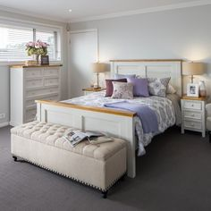 Tuscan Queen Bed - Products - 1825 interiors Head: 1320H mm; Foot: 720H mm. Normal retail $899