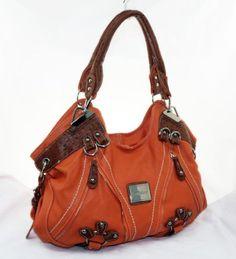 In Style 038 Hobo Designer Inspired Handbag For Classy Women Orange