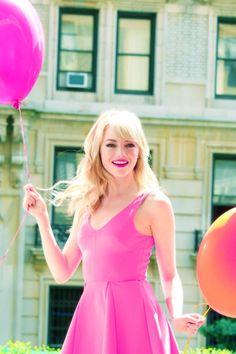 Emma Stone all pretty in pink