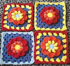 Translated into UK / AUS crochet terms on Spincushions as the Spin Week 45 square: here