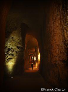 Les Mines d'ocre du Bruoux à Gargas dans le Luberon, Vaucluse, France.