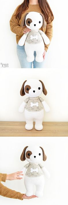 Crochet Pattern - Thomas the Friendly Dog - Amigurumi