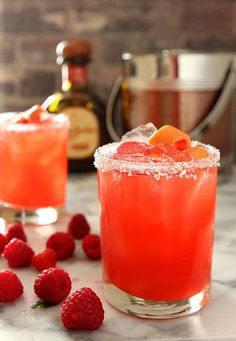 Grapefruit and Raspberry Margarita for National Margarita Day News Flash! National Margarita Day is Monday, February While I may forever. Raspberry Margarita, Margarita Cocktail, Margarita Tequila, Fun Cocktails, Fun Drinks, Beverages, Juice Drinks, Drinks Alcohol, Cocktail Drinks