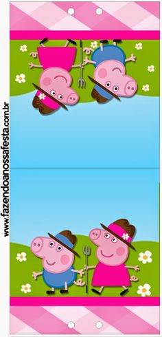 Peppa Pig at the Farm: Free Printable Candy Bar Labels.
