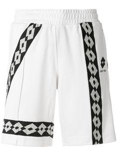 Damir Doma Paris Shorts X Lotto In White Viscose Striped Shorts, White Shorts, Damir Doma, Sport Chic, Traditional Dresses, Light In The Dark, Women Wear, Swimwear, Model