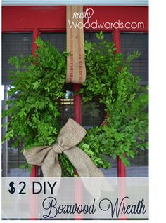 How to make a $2 boxwood wreath.