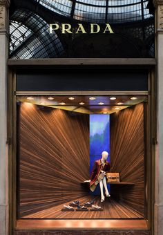 Prada teamed up with Italian designer Martino Gamper to create a series of window displays