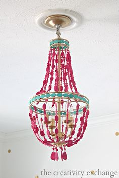 DIY Painted Empire Chandelier