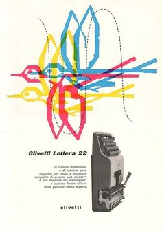 Olivetti typewriters ~ Giovanni Pintori