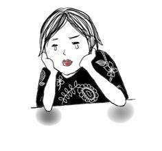 泣いている女性 | NATURAL HINTS 【illustration】