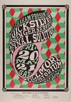 Gig poster featuring Quicksilver Messenger Service by Wes Wilson [1966]