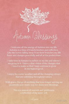 Affirmations: Autumn Blessings Affirmation | #Affirmations