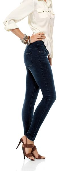Jeans + leggings = jeggings. And anyone can wear them. #chicos