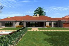 Overall Dimensions- x mBathrooms- 3 Car GarageArea- Square meters Tuscan House Plans, Family House Plans, Dream House Plans, Modern House Plans, Small House Plans, House Floor Plans, Single Storey House Plans, One Storey House, 6 Bedroom House Plans