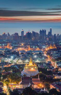 Bangkok - Golden Mount, Wat Sraket Rajavaravihara ภูเขาทอง วัดสระเกศ ราชวรมหาวิหาร จ.กรุงเทพมหานคร