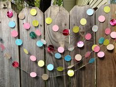 Paper Garland COLORFUL for a birthday party, event, wedding, baby shower or even decor for a kids room (30 ft.)