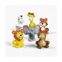 12 Vinyl Zoo Animal Characters $6.48 #topseller