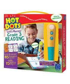 Take a look at this Hot Dots 'Let's Master Grade 3 Reading' Set by Hot Dots on #zulily today!