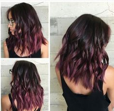 15 Awesome Trendy Mauve Hair Color 2018 For Great Appearance Ombre – hair ideas Hair Color 2018, Hair Color Purple, Hair Color And Cut, Cool Hair Color, Nice Hair Colors, Reddish Purple Hair, Hair Color For Warm Skin Tones, Curly Purple Hair, Fall Hair Colors