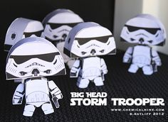Big Head Star Wars Paper Crafts: Storm Troopers, Darth Vader and Boba Fett