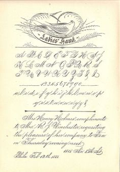 "Spencerian ""Ladies Hand"" Calligraphy Exemplar"
