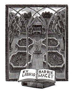 Ex Libris: hand engraved on wood by Andy English (http://www.andyenglish.com) and printed letterpress