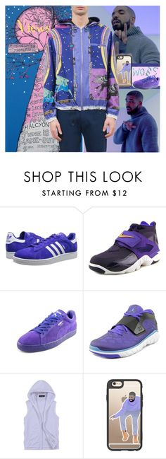 """""""Drake's Album Views Inspired Style!"""" by yours-styling-best-friend ❤ liked on Polyvore featuring adidas Originals, NIKE, Puma, Jordan Brand, Drakes London, Casetify, Versace, men's fashion, menswear and DRAKE"""