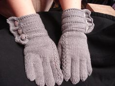 Ravelry: TrulyBlessed's Silver and Rhinestones 17th Street gloves