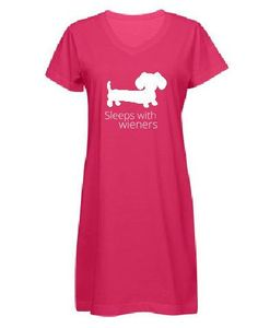 Sleeps With Wieners Dachshund Night Shirt Sleep Gown – The Smoothe Store