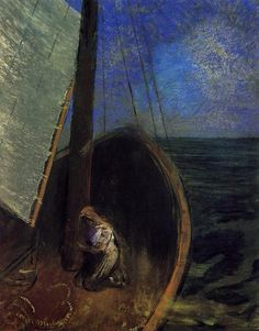 Odilon Redon(1840ー1916 French)「The Boat」(c.1902)