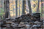 Dry stacked stone walls from a master builder.