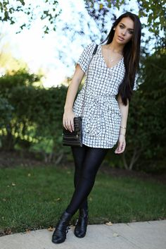 such a cute outfit! love the dress and boots!!! Carli Bybel-love her style :)