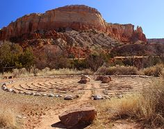 The labyrinth at Ghost Ranch, against the striking backdrop of ... on shade garden designs, walking labyrinth designs, school garden designs, dog park designs, labyrinth backyard designs, knockout rose garden designs, informal herb garden designs, rectangular prayer labyrinth designs, new mexico garden designs, heart labyrinth designs, 6 path labyrinth designs, spiral designs, stage garden designs, finger labyrinth designs, christian prayer labyrinth designs, water garden designs, indoor labyrinth designs, meditation garden designs, simple garden designs, greenhouse garden designs,