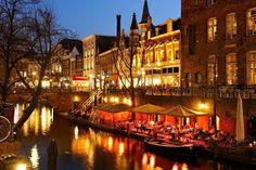 Utrecht, Oudegracht, Netherlands, by DonkerUtrecht Great Places, Places Ive Been, Places To Go, Utrecht, World Cities, Sea Level, Best Memories, Netherlands, Scenery
