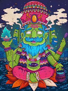 Hindu gods serie / Brahma .