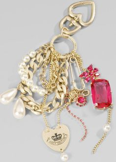 Cute :) Juicy Couture Chain and Jewelry Key Fob
