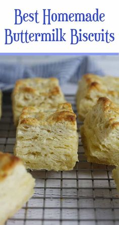 The Best Homemade Buttermilk Biscuits are perfectly flaky on the outside, and soft and fluffy in the inside. These make the BEST snack or side, with a few pats of butter and a drizzle of honey! are perfectly flaky on the outside, and soft and fluffy in the inside. These make a great snack or side, with a few pats of butter and a drizzle of honey! | suebeehomemaker.com | #homemadebiscuits #buttermilkbiscuits #biscuits #bestbiscuits Best Brunch Recipes, Breakfast Recipes, Favorite Recipes, Holiday Recipes, Pastry Recipes, Baking Recipes, Muffin Recipes, Bread Recipes, Homemade Buttermilk Biscuits