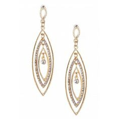 Olivia Welles Marquis Embellished Earrings - Gold